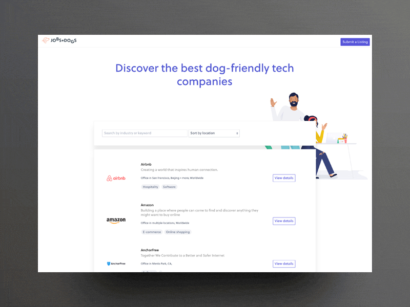 Jobs With Dogs, Discover the best dog-friendly tech companies