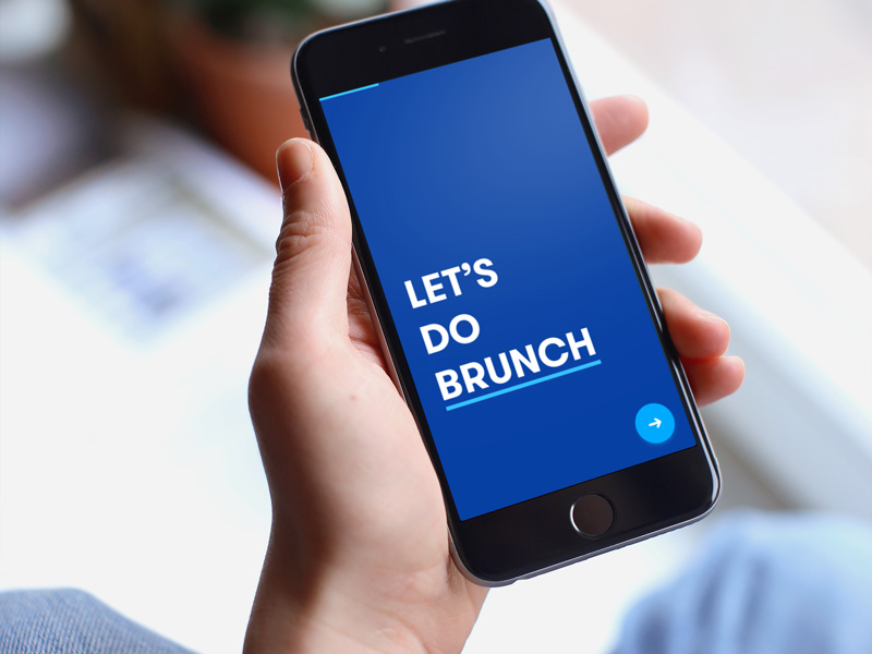 Let's Do Brunch, Interactive Prototype App, Side Project
