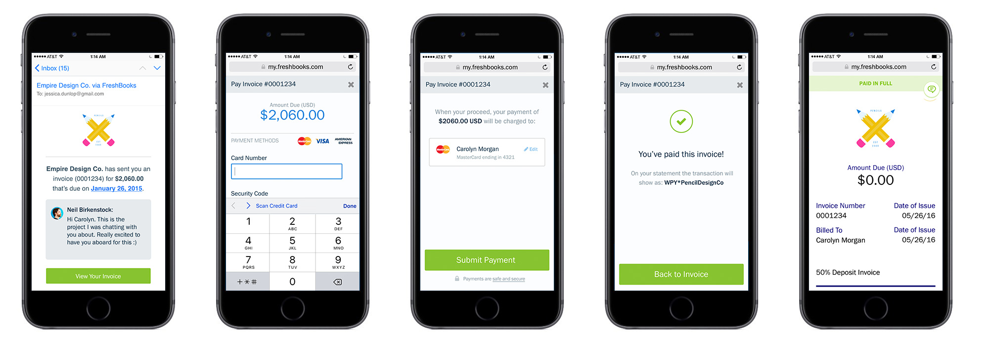 Mobile Payment Experience via Credit Card