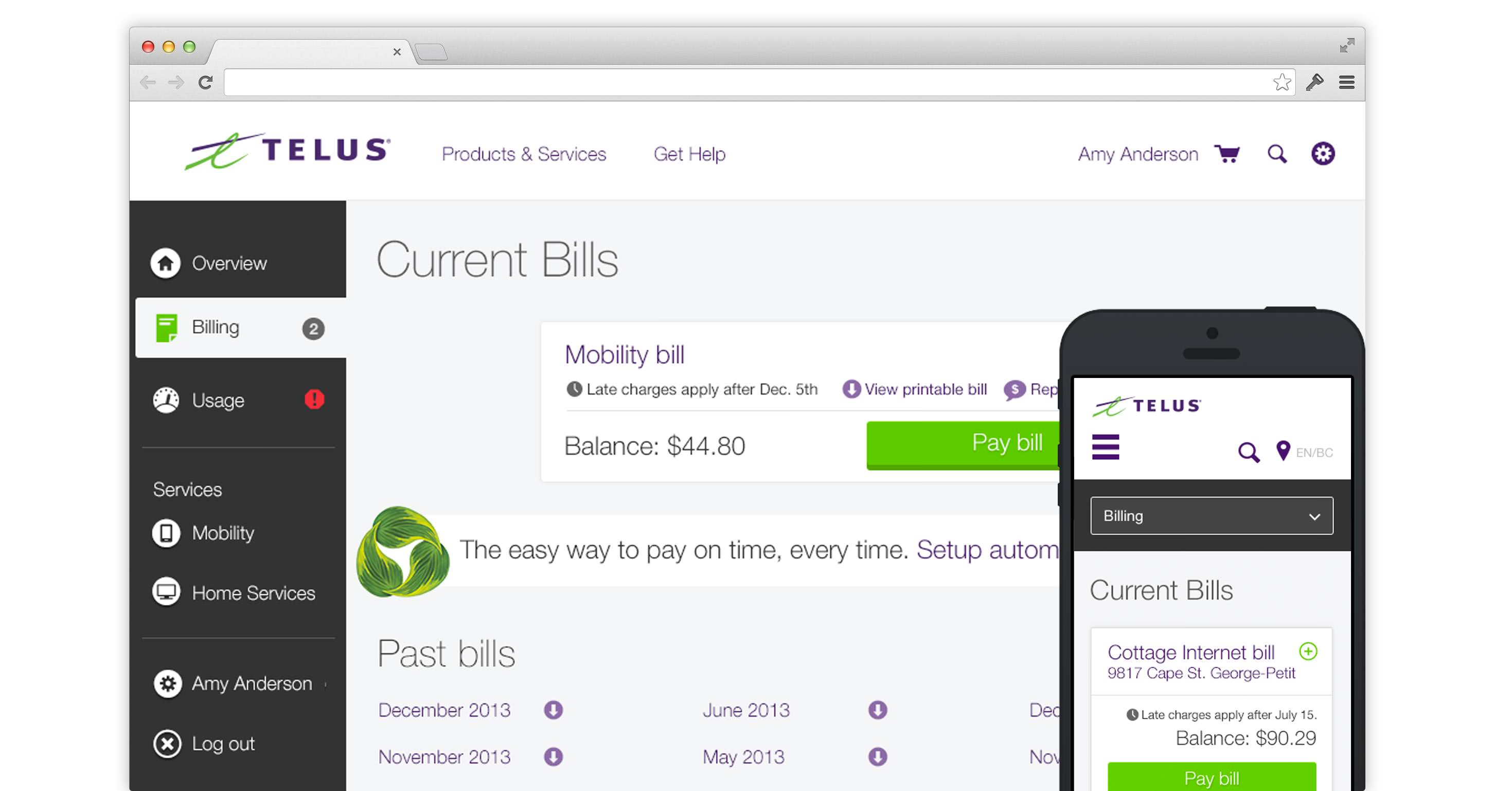 TELUS MyAccount - Online Monthly Phone Bill