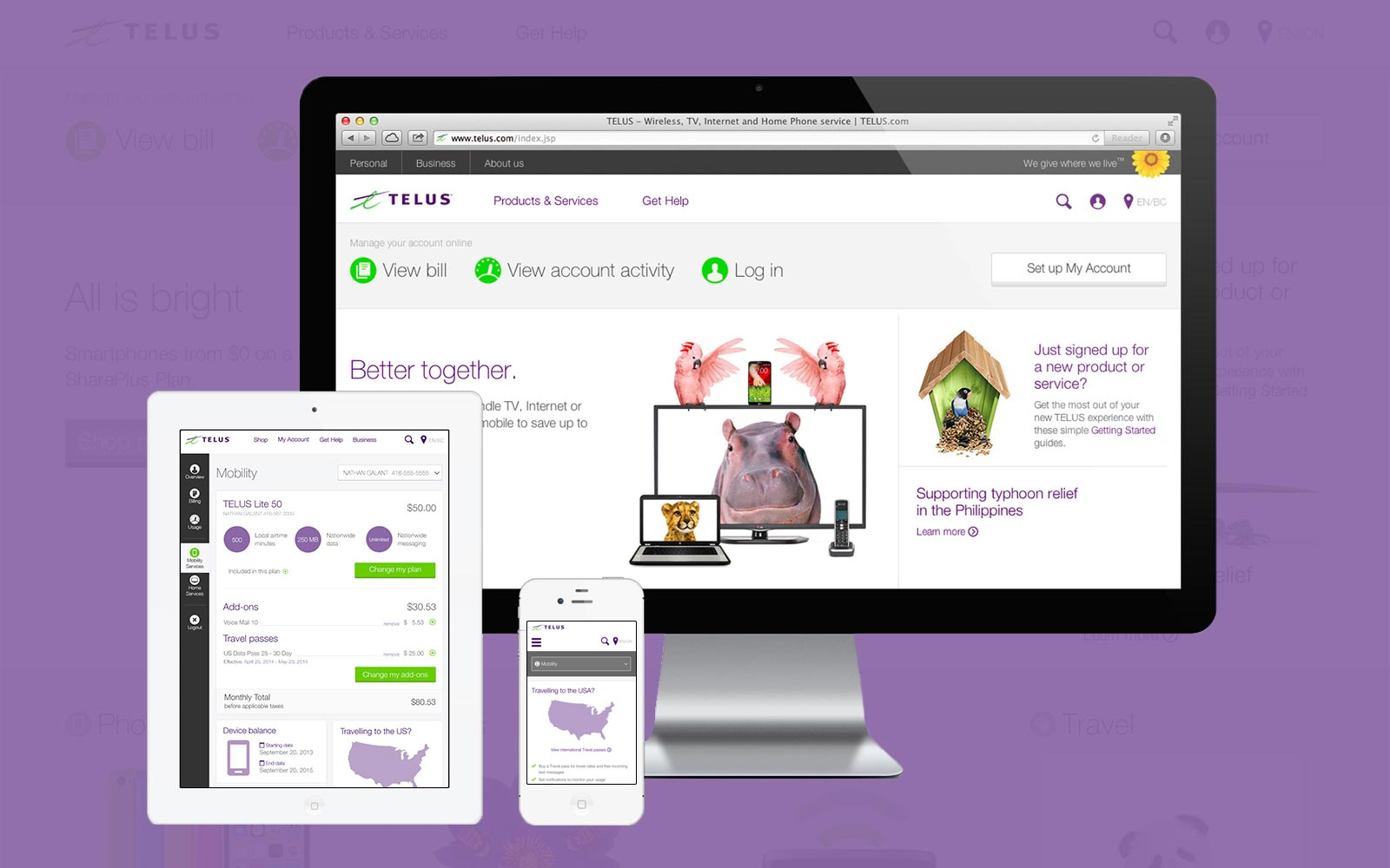 Responsive TELUS MyAccount Web Application